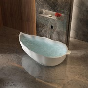 Ванна из искусственного камня NS Bath NSB-17850G 178x75 белая глянцевая