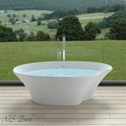 Ванна из искусственного камня NS Bath NSB-18903G 180x90 белая глянцевая