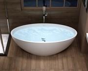 Ванна из искусственного камня NS Bath NSB-1575G 150x75 белая глянцевая