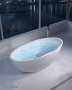 Ванна из искусственного камня NS Bath NSB-16804M 168x80 белая матовая