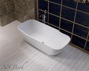Ванна из искусственного камня NS Bath NSB-1880G 180x80 белая глянцевая