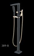 Напольный смеситель ванны Boheme Venturo 389-B черный/золото