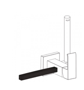 Полотенцедержатель для гигиенического душа TRES Cuadro 03412402NM
