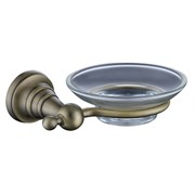 4203 Мыльница (стекло) KAISER бронза (латунь)