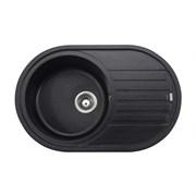 """Мойка-Гранит """"KAISER""""  780x500x220 Black Pearl(овальная)"""