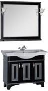 Мебель для ванной Aquanet Валенса 100 черный краколет/серебро