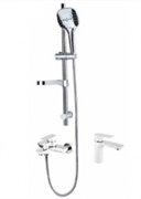 Комплект для ванной комнаты Grohenberg GB1009WC хром/белый
