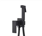 Гигиенический душ со встраиваемым смесителем KorDi Black Night KD A70240 Black Matt
