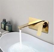Смеситель для раковины скрытого монтажа Grohenberg GB599GO золото