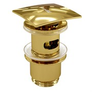 Донный клапан Push-up Wasserkraft A168 золото