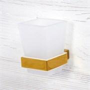 Стакан для зубных щеток стеклянный Wasserkraft Sauer K-7928 золото