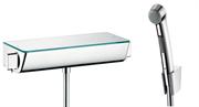 Гигиенический душ с термостатом настенным Hansgrohe Ecostat Select 13161000