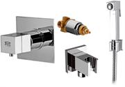 Гигиенический душ скрытого монтажа с термостатом Remer QUBIKA THERMO QT30