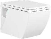 Унитаз подвесной с биде Creavit TP324.00000+KC3621 с крышкой-сиденьем микролифтом Турция
