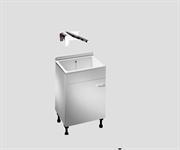 Комплект постирочная раковина с тумбой и смесителем SANIT 60.A00.01+L15 60 см