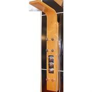 Душевая панель с гидромассажем и термостатом GPD DSP06 бамбук