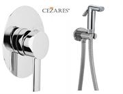 Гигиенический душ со встраиваемым смесителем CEZARES OVER-VDM-01-Cr хром